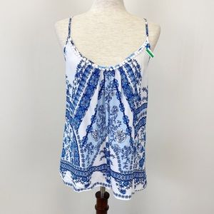 In Bloom by Jonquil Medium Shirt Tank Top Blue Whi